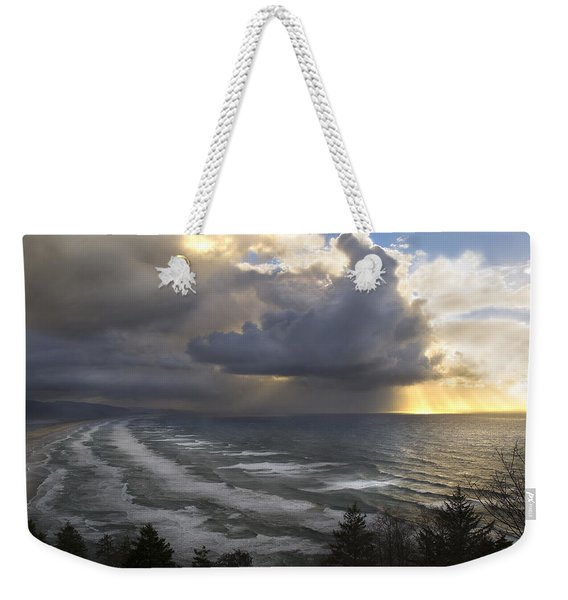 Sunset At Cape Lookout Oregon Coast Weekender Tote Bag