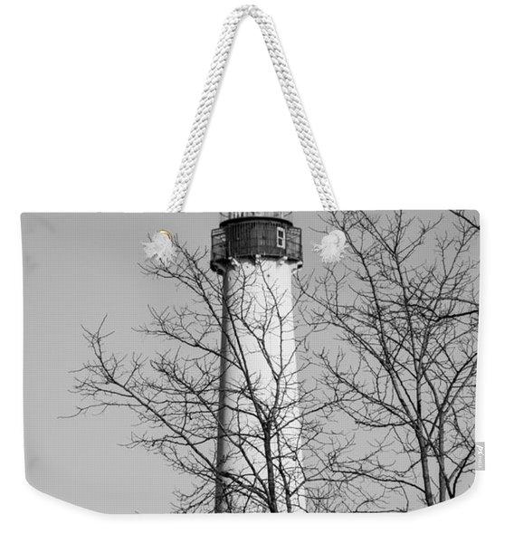 Cape May Light B/w Weekender Tote Bag