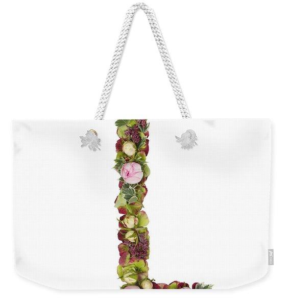 Capital Letter L Weekender Tote Bag