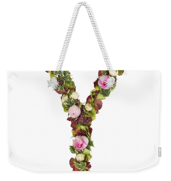 Capital Letter Y Weekender Tote Bag