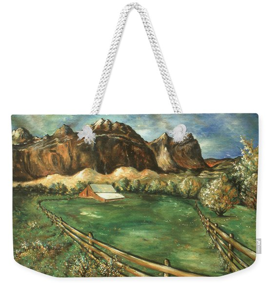 Capitol Reef Utah - Landscape Art Painting Weekender Tote Bag