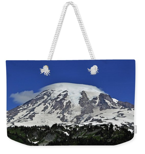 Capped Rainier Up Close Weekender Tote Bag