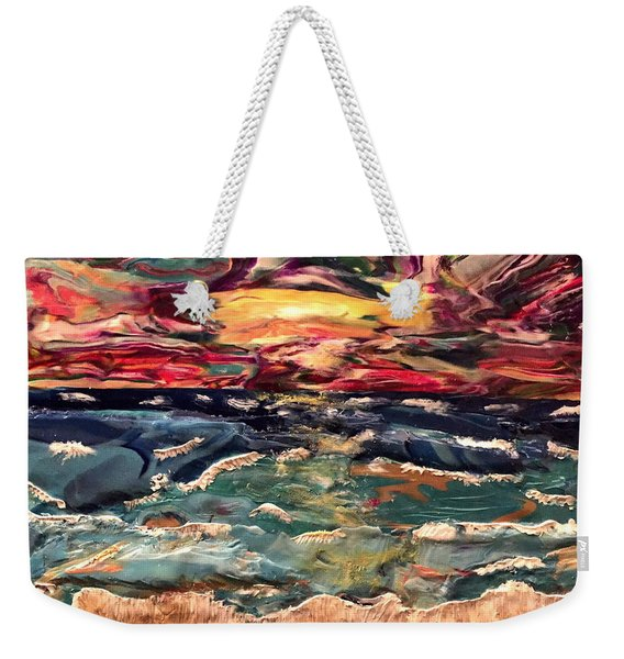 Capricious Sea Weekender Tote Bag