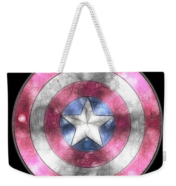 Captain America Shield Digital Painting Weekender Tote Bag