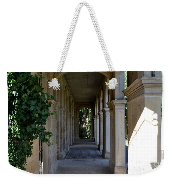 Weekender Tote Bag featuring the photograph Captain Cook Museum Walkway by Scott Lyons