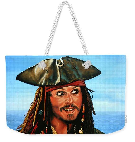 Captain Jack Sparrow Painting Weekender Tote Bag