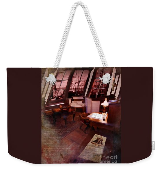 Captain's Cabin On The Dicey Weekender Tote Bag