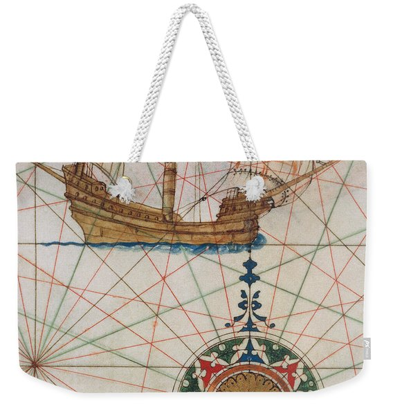 Caravel In Ocean Weekender Tote Bag
