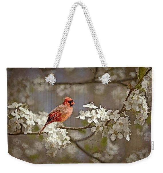 Cardinal And Blossoms Weekender Tote Bag