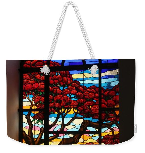 Caribbean Stained Glass  Weekender Tote Bag