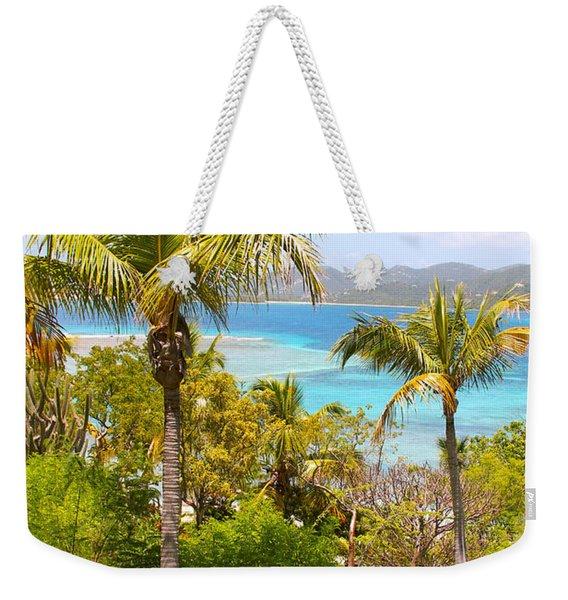 Caribbean View Weekender Tote Bag