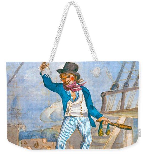 Caricature Of A Sailor Weekender Tote Bag
