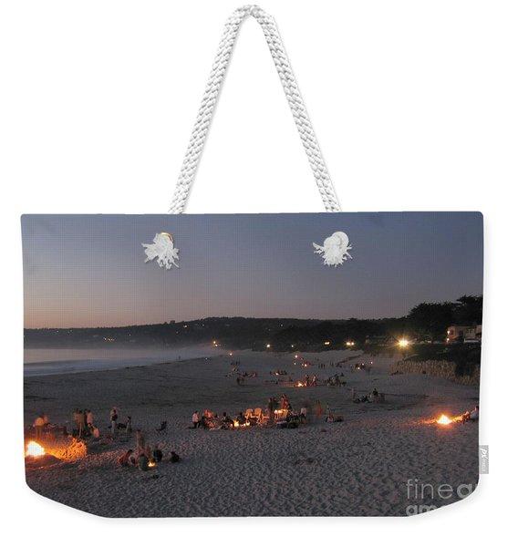 Carmel Beach Bonfires Weekender Tote Bag