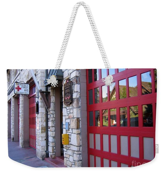 Carmel By The Sea Fire Station Weekender Tote Bag