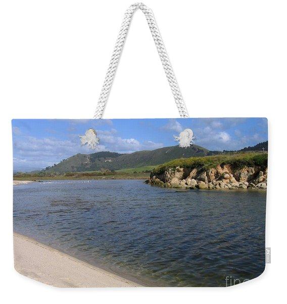 Carmel River Lagoon Weekender Tote Bag