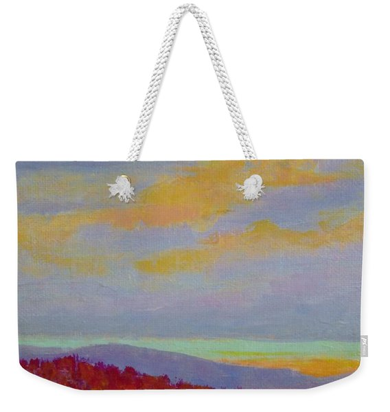 Carolina Autumn Sunset Weekender Tote Bag