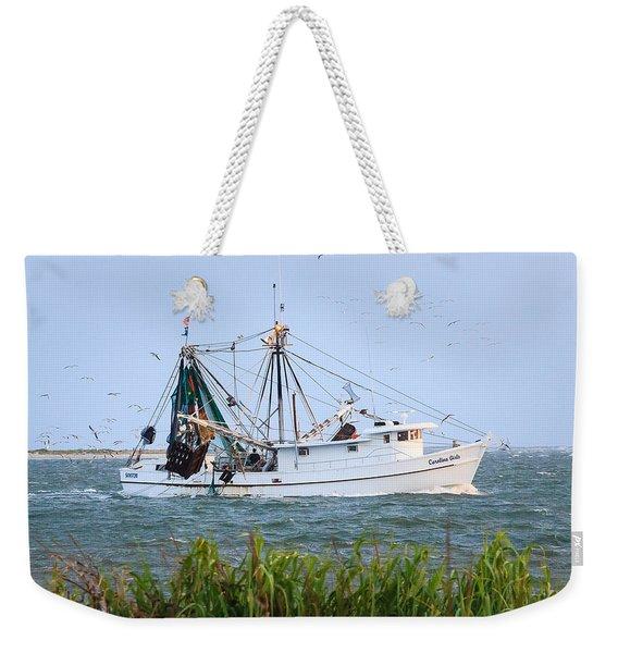 Carolina Girls Shrimp Boat Weekender Tote Bag