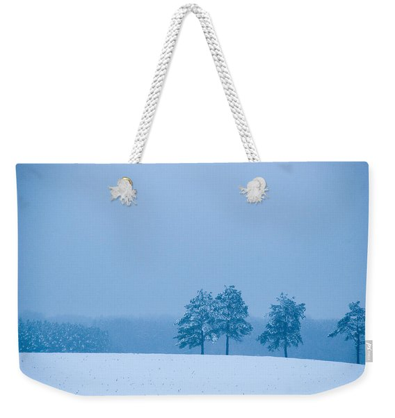 Carolina Snow Weekender Tote Bag