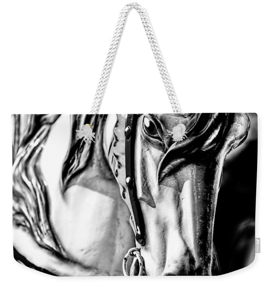 Carousel Horse Two - Bw Weekender Tote Bag