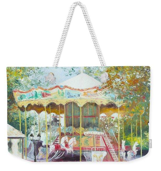 Carousel In Montmartre Paris Weekender Tote Bag