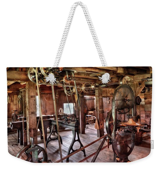 Carpenter - This Old Shop Weekender Tote Bag