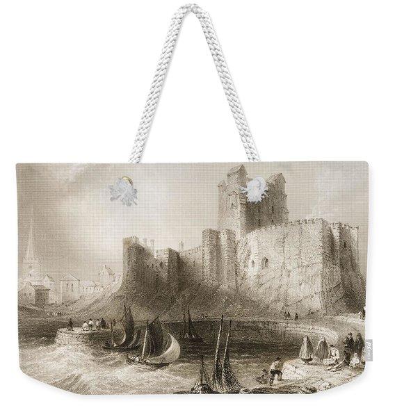Carrickfergus Castle, County Antrim, Northern Ireland, From Scenery And Antiquities Of Ireland Weekender Tote Bag