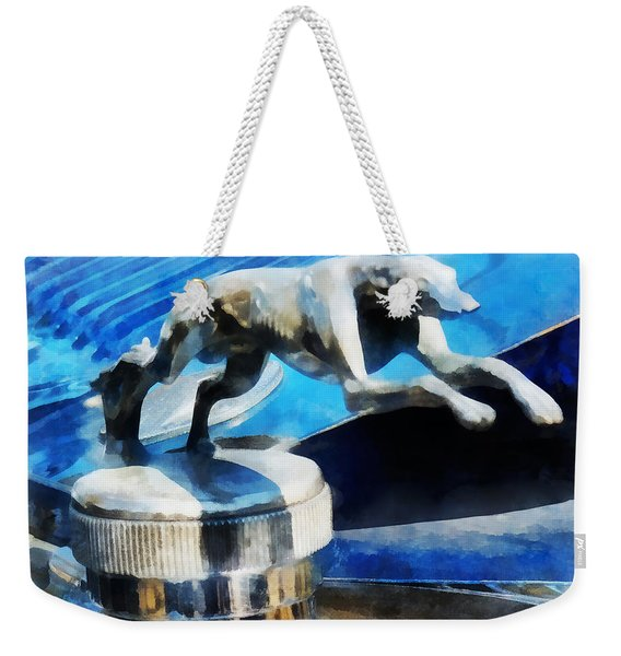Cars - Lincoln Greyhound Hood Ornament Weekender Tote Bag