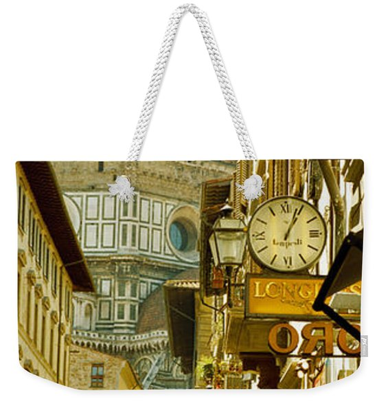 Cars Parked In A Street Weekender Tote Bag