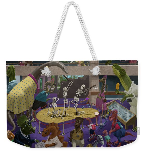 Cartoon Dinosaur Museum Weekender Tote Bag