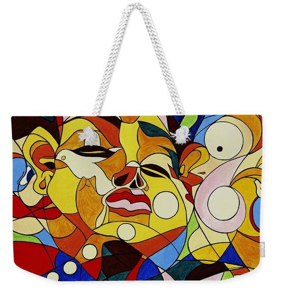 Cartoon Painting With Hidden Pictures Weekender Tote Bag