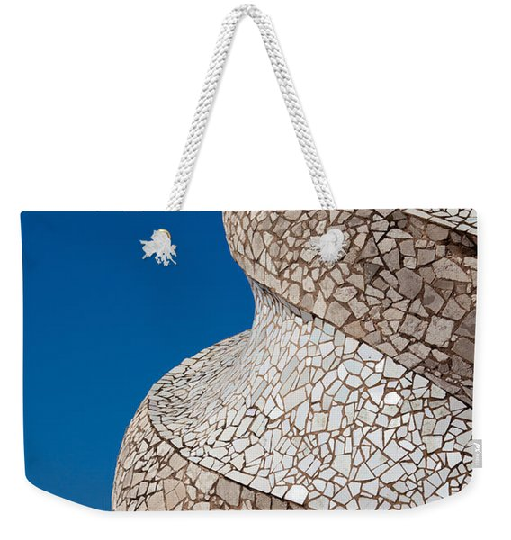 Casa Mila Abstract Chimney Detail In Barcelona Weekender Tote Bag