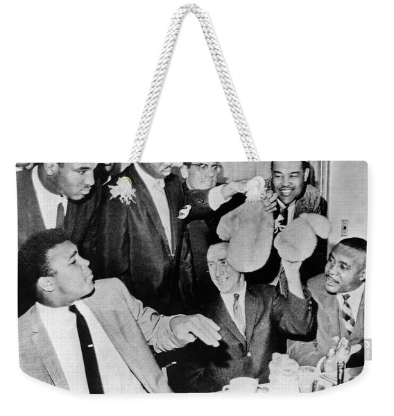 Cassius Clay Face Sonny  Liston Weekender Tote Bag