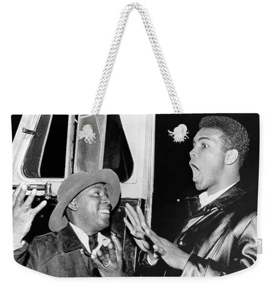 Cassius Clay Predicts Eight Weekender Tote Bag