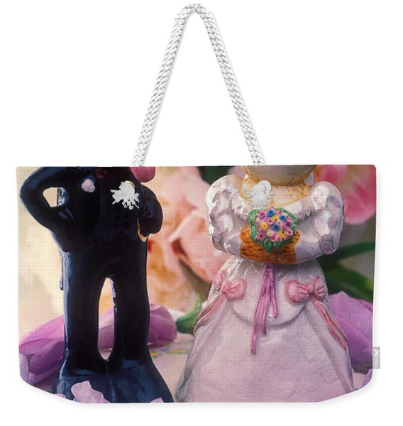 Cat And Dog Bride And Groom Weekender Tote Bag