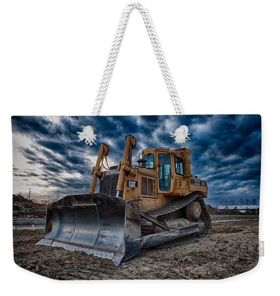 Cat Bulldozer Weekender Tote Bag