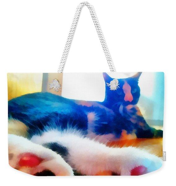 Cat Feet Weekender Tote Bag