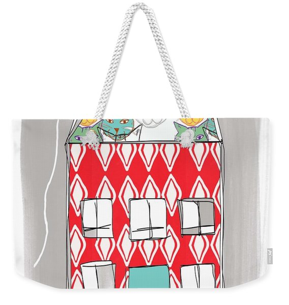 Cat House Weekender Tote Bag