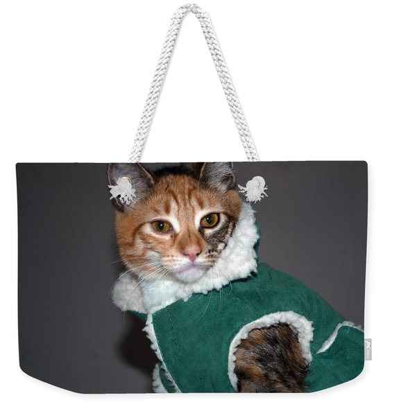 Cat In Patrick's Coat Weekender Tote Bag