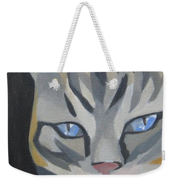Cat With Tongue  Weekender Tote Bag