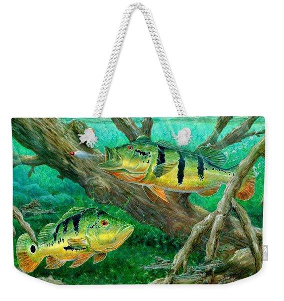 Catching Peacock Bass - Pavon Weekender Tote Bag