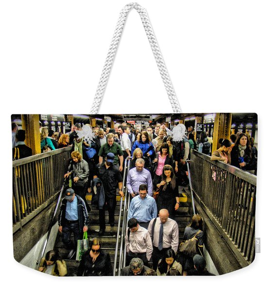 Catching The Subway Weekender Tote Bag