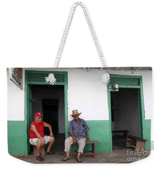 Catching Up In Panama Weekender Tote Bag