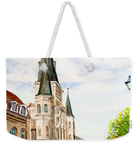 Cathedral Plaza - Jackson Square, French Quarter Weekender Tote Bag
