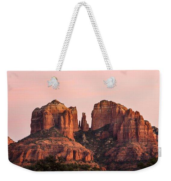 Cathedral Rock Sunset Weekender Tote Bag