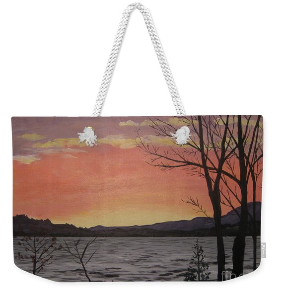Caucomgomoc Lake Sunset In Maine Weekender Tote Bag