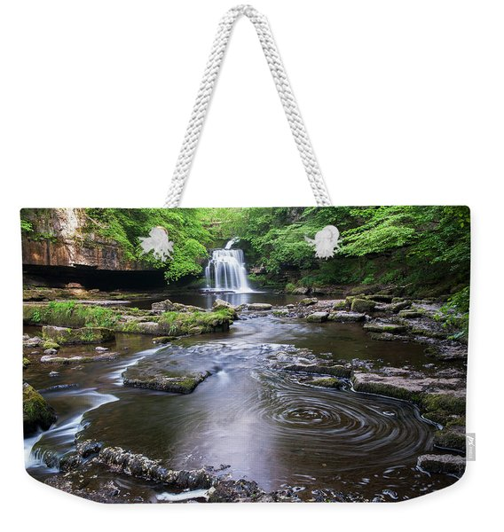 Cauldron Falls At West Burton Weekender Tote Bag