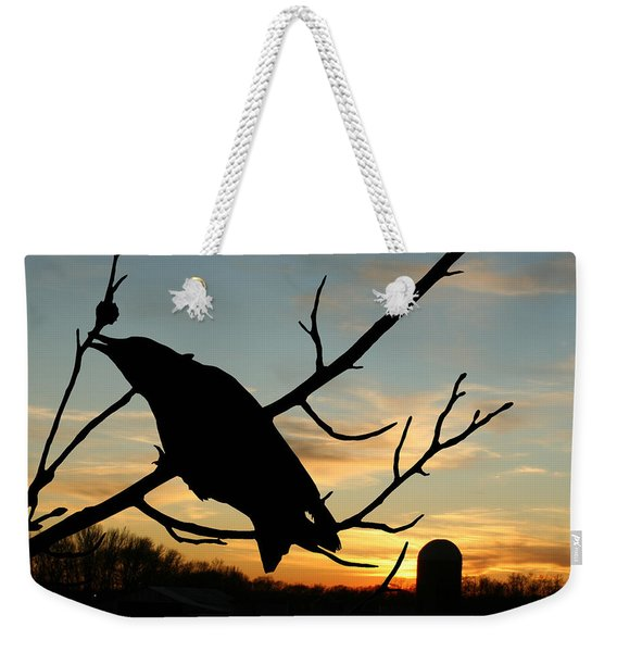 Cawcaw Over Sunset Silhouette Art Weekender Tote Bag