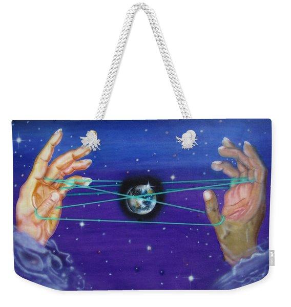 Celestial Cats Cradle Weekender Tote Bag