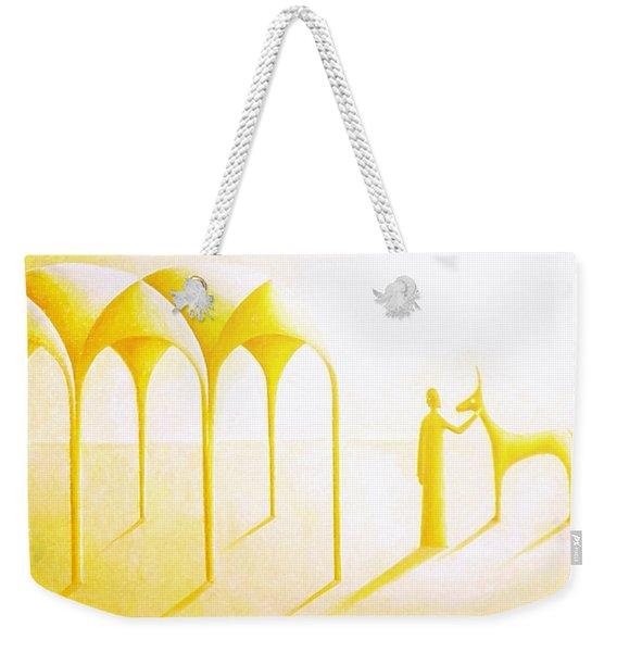 Celestial Dimension Weekender Tote Bag
