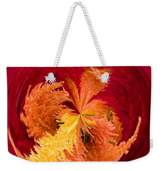 Celosia On Fire Weekender Tote Bag